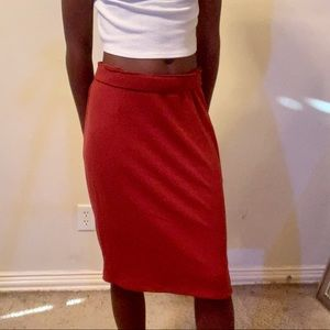 Orange old navy Pencil Skirt